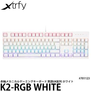 Xtrfy K2-RGBホワイト 英語配列 赤軸メカニカルゲーミングキーボード UK配列 #701123 【送料無料】 【即納】|shasinyasan