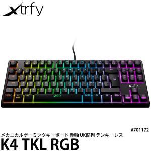 Xtrfy K4 TKL RGB 赤軸メカニカル テンキーレス ゲーミングキーボード 英語UK配列 ...