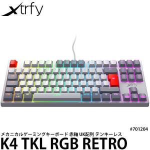 Xtrfy K4 TKL RGB RETRO 赤軸メカニカル テンキーレス ゲーミングキーボード 英...