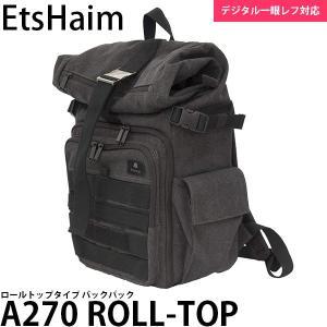 キング EtsHaim A270 ROLL-TOP バックパック ナチュラルブラック 【送料無料】 【即納】|shasinyasan