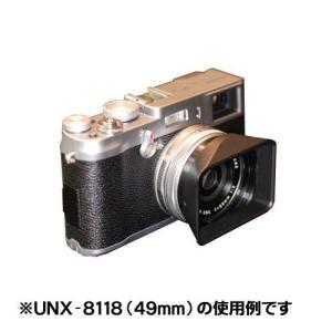 ユーエヌ UNX-8118 スクエアーフード 専用キャップ付 49mm|shasinyasan