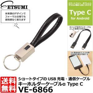 【メール便 送料無料】 エツミ VE-6866 キーホルダーケーブルα Type C ブラック|shasinyasan
