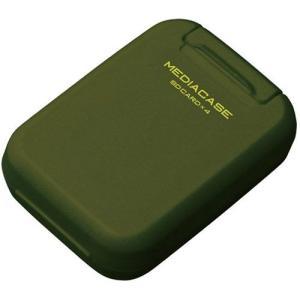 【メール便 送料無料】 ハクバ DMC-20SSDGR ポータブルメディアケース S SD/microSDカード用 アーミーグリーン 【即納】|shasinyasan