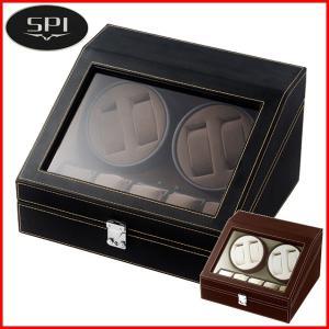 ワインディングマシーン 4本 マブチモーター エスプリマ LED 自動巻き時計 腕時計 ウォッチ 自動巻き メンズ レディース 時計 ワインダー ワインディングマシン shatti