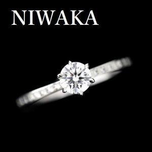 NIWAKAかれん、のダイヤモンドリングです。  ダイヤモンドは、カラーレスグレードのEカラー、 ル...