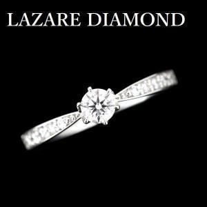ラザールのダイヤモンドリングです。  ダイヤモンドは、カラーレスグレードのFカラー、 顕微鏡でもイン...