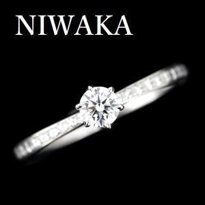 NIWAKAかれん、のダイヤモンドリングです。  ダイヤモンドは、カラーレスグレードのEカラー、 顕...