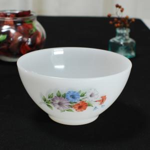 Arcopal アルコパル カフェオレボウル 花柄 フランス アンティーク 食器 耐熱ミルクガラスの画像