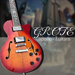 新品カスタムギター/12弦セミホロウ・チェリーサンバースト Apollo guitars(アポロ ギ...