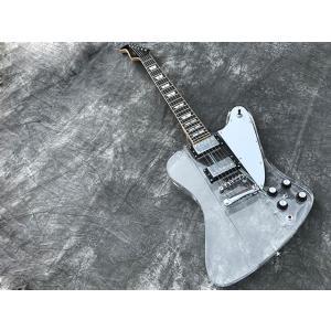 新品アクリル素材のクリスタルギターAP5FB/ボディとポジションマークに虹色発光LED搭載/ピックア...