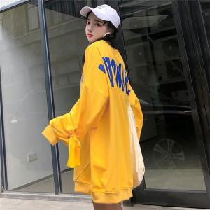 f6080e7467ed0 韓国 レディース ファッション ロゴ 長袖 スウェット トレーナー カラフル ダンス 衣装 派手 送料無料
