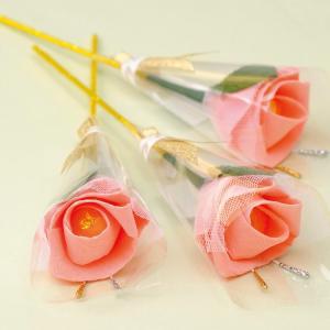 ロイヤルピンクなローズキャンディーのプチギフト / 結婚式 ホワイトデー 母の日の画像