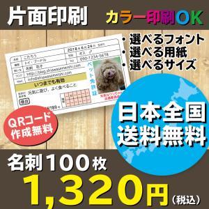 大人気!免許証名刺 ペット免許証 プレゼントにもおすすめ!片面印刷 名刺作成 100枚 送料無料|shiawasemeishi