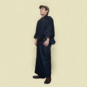男物のデニム着物(新品) オーダー商品 2ヶ月でお届け|shibokusansou
