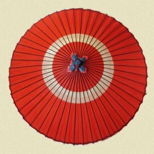 羽二重蛇の目傘 オレンジ|shibokusansou