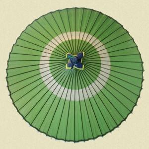 羽二重蛇の目傘 グリーン|shibokusansou