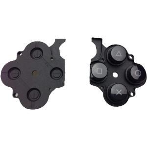PSP-2000 PSP-3000 共通 パーツ ○△□×ボタン ラバー 黒 ブラック