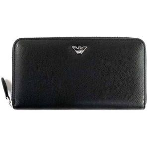 エンポリオアルマーニ ラウンドファスナー財布 EMPORIO ARMANI YEME49 YAQ2E 81072 BLACK(ブラック)