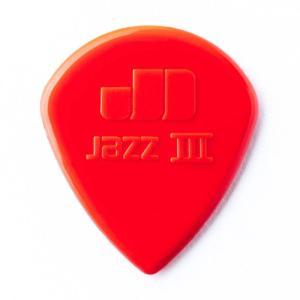 Dunlop (Jim Dunlop) 47R Nylon Jazz III Pick (レッド)×10枚セット|shibuya-ikebe