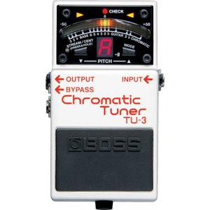 BOSS ボス TU-3 Chromatic Tuner / クロマチックチューナー    / IKEBE×BOSSオリジナルデザイン缶クージープレゼント|shibuya-ikebe