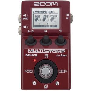 ZOOM ズーム ベース用マルチエフェクター MULTI STOMP MS-60B [for Bass]|shibuya-ikebe