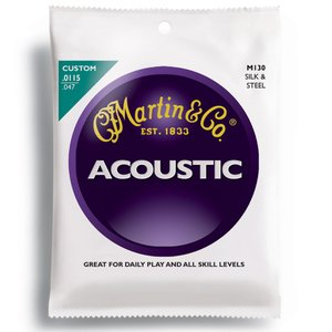 MARTIN マーチン アコースティックギター弦 Silk & Steel Folk M130 (011.5〜047)|shibuya-ikebe