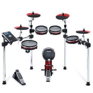 叩け、情熱の赤。  Nine-Piece Electronic Drum Kit with Mesh...