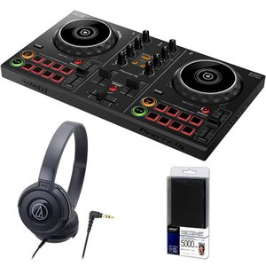Pioneer DJ / DDJ-200 + ATH-S100BKヘッドホン DJ初心者セット(今ならモバイルバッテリープレゼント!)|shibuya-ikebe