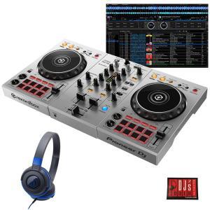 "Pioneer DJ / DDJ-400-S ""シルバー""  + ATH-S100BBL 初心者ヘッドホンセット 国内池部楽器店限定モデル|shibuya-ikebe"
