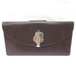 Ft528231  BVLGARI ブルガリ 二つ折り財布 チクラディ 23956 ブラウン メンズ...