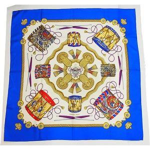 ◆ミウラ◆エルメス カレ90 シルク100% スカーフ LES TAMBOURS タンブールの太鼓|shichi-miura