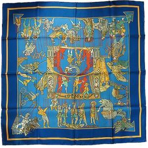 ◆ミウラ◆エルメス カレ90 シルク100% スカーフ LE TEMPS des MARIONNETTES マリオネットの時間|shichi-miura