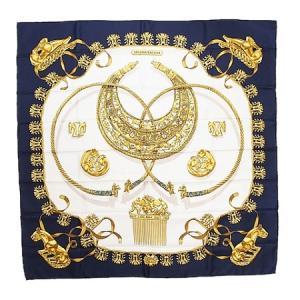 ◆ミウラ◆エルメス カレ90 シルク100% スカーフ LES CAVALIERS D'OR 黄金の騎士|shichi-miura