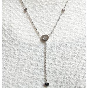 【送料無料】ショパール Chopard 750WG ハッピーダイヤモンド 1pダイヤハートネックレス 81/5188 ★中古品★|shichi-nishigaki