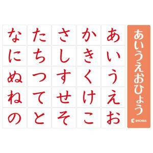 50音1文字1文字が大きく、わかりやすい〜赤のあいうえお表|shichida