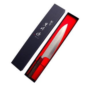全長:約350mm 刃渡:約210mm 重量:約160g 材質:刃/粉末ハイス鋼、柄/紫檀 日本製