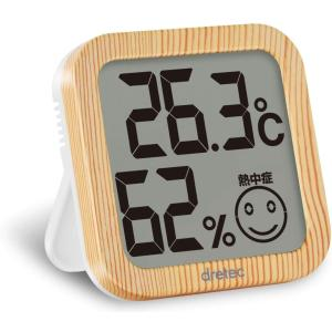 ドリテック デジタル温湿度計  O-271NW ナチュラルウッド shichikuya