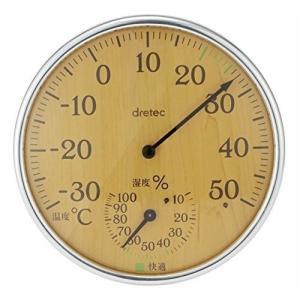 ドリテック 温湿度計  O-319NW ナチュラルウッド shichikuya