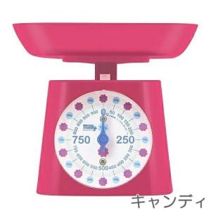 Milky(ミルキー) アナログスケール 1kgアナログはかり キャンディデザイン(ピンク) ドリテック shichikuya