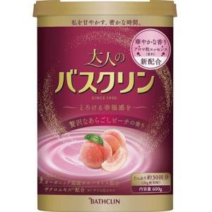 大人のバスクリン 贅沢なあらごしピーチの香り 600g|shichikuya
