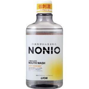 NONIO(ノニオ) マウスウォッシュ  ノンアルコールライトハーブミント 600mL ライオン 【医薬部外品】|shichikuya