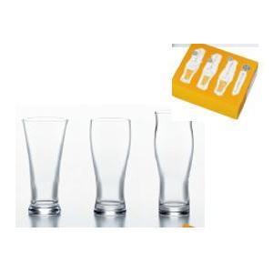 東洋佐々木ガラス ビヤーグラスセット (口あたり・のどごし・泡立ち)  3個入りG071-T217 shichikuya