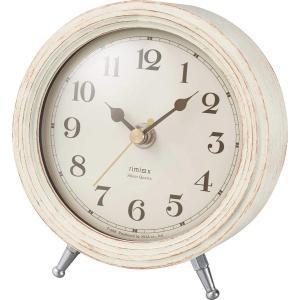 ノア精密 エアリアルレトロミニ 置き時計 ホワイト T-688 WH shichikuya