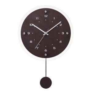 ノア精密 電波掛け時計 ウォールクロック アンティール 振り子時計 ブラウン W-473 BR shichikuya