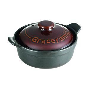グレイスラミック 陶製洋風土鍋 17cm GC-01 カクセー shichikuya