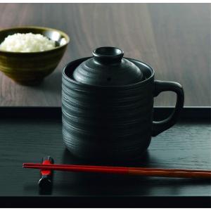 電子レンジ専用炊飯陶器 楽炊御膳 1合炊き T-01B  カクセー shichikuya