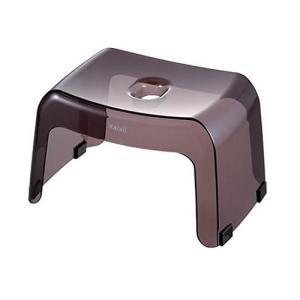 リッチェル カラリ 風呂椅子  腰かけ 高さ20cm スモークブラウン|shichikuya