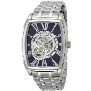 バロック BAROQUE トノー型 オートマチック 男性用腕時計 ブランドウォッチ トレビ メンズ BA2001S-03M 自動巻 正規輸入品|shien
