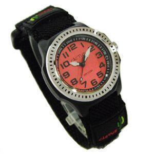 カクタス 子供用腕時計 マジックバンド レッド文字盤 CAC-45-M07 メール便250円対応|shien