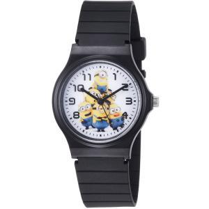 ミニオンズ アナログ ウレタンベルト ブラック×ホワイト DES001-1 フィールドワーク 腕時計 USJ ネコポス300円可|shien